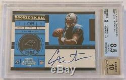 2011 Playoff Contenders #228a Cam Newton Rookie Autograph Bgs 8.5 Nm-mt+ Auto Rc