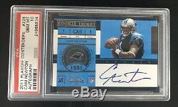 2011 Playoff Contenders CAM NEWTON Rookie Ticket RC #228 PSA 10 On Card Auto