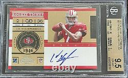 2011 Playoff Contenders Colin Kaepernick BGS 9.5 with 10 Auto #227 Rookie RC 49ers
