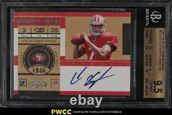 2011 Playoff Contenders Colin Kaepernick ROOKIE RC AUTO #227 BGS 9.5 GEM MINT