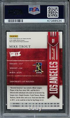 2011 Playoff Contenders Mike Trout Future HOF ROOKIE RC #17 PSA 9 MINT
