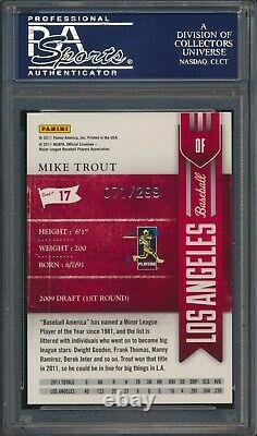 2011 Playoff Contenders Rated Rookie Crystal Mike Trout RC Rookie /299 PSA 10