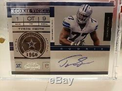 2011 Playoff Contenders Rookie Auto Ticket Tyron Smith SSP Rarest Auto Only 23