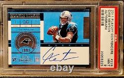 2011 Playoff Contenders Rookie Ticket Cam Newton RC AUTO PSA 9 Stunning Card