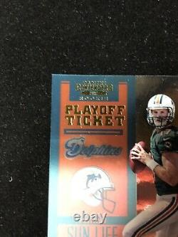 2012 Contenders Playoff Ticket Ryan Tannehill Auto RC 85/99 MINT
