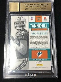 2012 Contenders Playoff Ticket Ryan Tannehill Auto RC /99 BGS 9.5 10