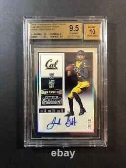 2016 Contenders Playoff Ticket Jared Goff RC Autograph /15 BGS 9.5 Auto/10 Gem