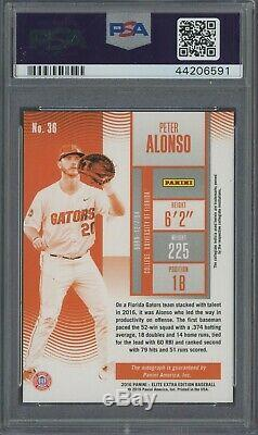 2016 Contenders Playoff Ticket Pete Alonso Rookie RC AUTO /15 PSA 9 NONE HIGHER