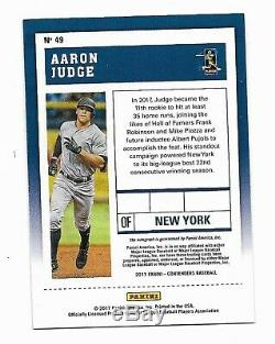 2017 Aaron Judge Contenders Playoff Rookie ticket Auto 09/25 Out-of-Pack Quality