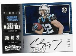2017 Contenders Christian McCaffrey Playoff Ticket Auto RC Rookie Autograph