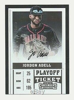 2017 Contenders JO ADELL Rookie Playoff Ticket Variation SSP Auto /15 Angels