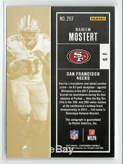 2017 Contenders Raheem Mostert Playoff Ticket Rookie Auto /99 49ers RB