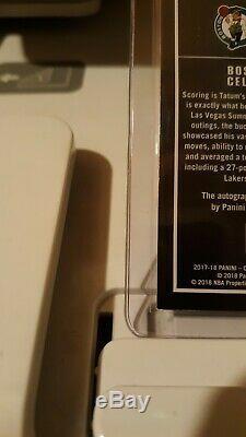 2017 PANINI CONTENDERS PLAYOFF TICKET JAYSON TATUM ROOKIE AUTO #ed /65