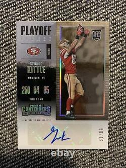 2017 Panini Contenders Playoff George Kittle Rookie Ticket Auto /99