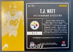 2017 Panini Contenders Playoff T. J. Watt AUTO SN04/99 Pittsburgh Steelers RC