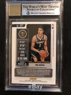 2018-19 Contenders Playoff Ticket Michael Porter Jr. RC Auto /65 BGS 9 Auto 10