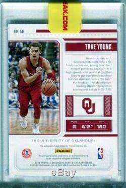 2018-19 Contenders TRAE YOUNG Playoff Ticket Auto Autograph RC Rookie #d 15/15