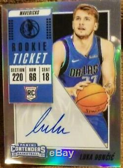 2018-19 Luka Doncic Contenders Rookie Playoff Ticket Prizm ON-CARD Auto
