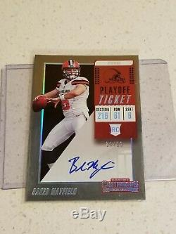 2018 Contenders Playoff Ticket Baker Mayfield RC Rookie AUTO 30/99