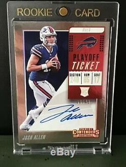 2018 Contenders Variation Playoff Ticket Auto Josh Allen #'d /49 Buffalo Bills