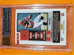 2018 Panini Contenders Nick Chubb Playoff Ticket Rookie Auto Signed #/99 Bgs 8.5