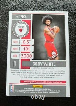 2019-20 Contenders Coby White Playoff Ticket Auto /99 Bulls Rookie RC On Card