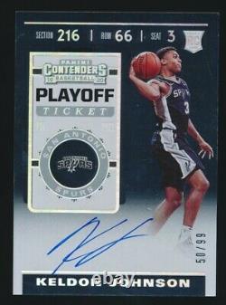 2019-20 Contenders Keldon Johnson Playoff Ticket Autograph Auto /99 Spurs Rookie