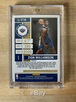 2019-20 Contenders NBA 108 Zion Williamson On Card AUTO RC Playoff Ticket 05/75