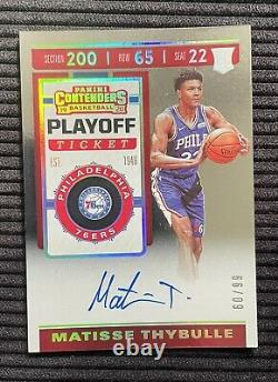 2019-20 Matisse Thybulle Contenders Basketball Playoff Ticket /99 Rookie Auto