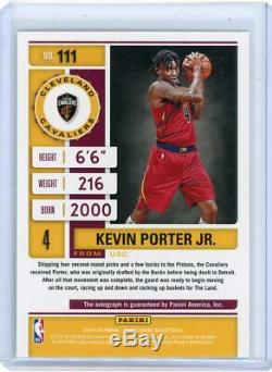 2019-20 Panini Contenders KEVIN PORTER JR Playoff ROOKIE TICKET AUTO SP RC 73/99
