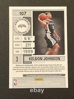 2019-20 Panini Contenders Playoff Ticket Keldon Johnson Rookie Auto /99 RC #107