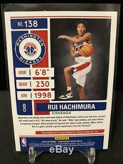 2019-20 Panini Contenders Rui Hachimura Playoff Ticket Rookie Auto #138 17/99
