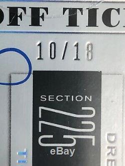 2019 Contenders Drew Lock Auto # 10/18 Playoff Ticket Denver Broncos Variation C