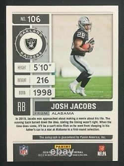 2019 Contenders Playoff Ticket Josh Jacobs RC AUTO 06/49 Las Vegas Raiders READ