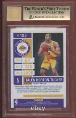 2019 Contenders TALEN HORTON-TUCKER BGS 9.5/10 PLAYOFF TICKET ROOKIE AUTO #/99
