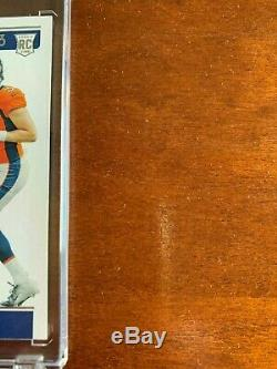 2019 Drew Lock Playoff Contenders Rookie Ticket Variation RPS Hard Signed