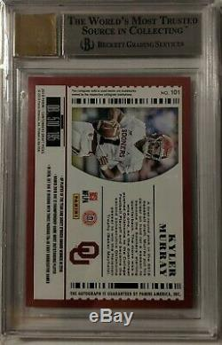 2019 Kyler Murray Contenders Draft Picks College Playoff Ticket Auto #101a Bgs 9