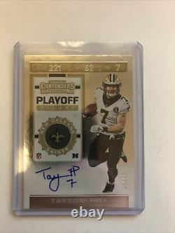 2019 Pamini Contenders Football Taysom Hill Playoff Ticket Auto 30/49