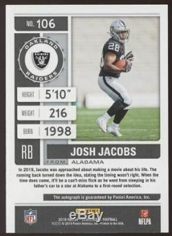 2019 Panini Contenders Josh Jacobs Playoff Ticket RC Auto Autograph /49