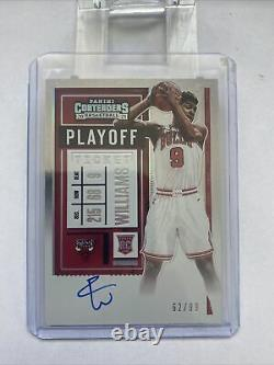 2020-21 Contenders Patrick Williams Rookie Playoff Ticket Auto SP #/99