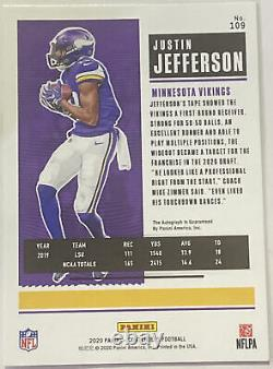 2020 Contenders JUSTIN JEFFERSON Auto Rookie RC Playoff Ticket Variant 65/ 99