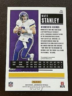 2020 Contenders NATE STANLEY CRACKED ICE Rookie Ticket Auto RC #/22! VIKINGS