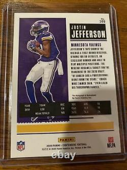 2020 Panini Playoff Justin Jefferson Contenders Preview Auto Rookie Card #10/23