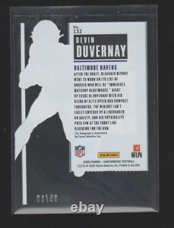 2020 Playoff Contenders Devin Duvernay Rookie Clear Ticket Auto #/10 RC Ravens