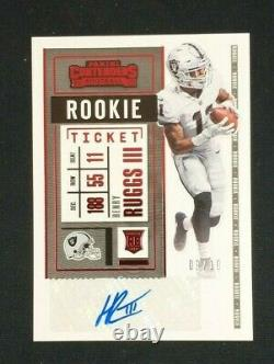 2020 Playoff Henry Ruggs Contenders Preview Rookie Ticket SSP /10 Auto Raiders