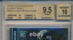 ALLEN ROBINSON 2014 Panini CONTENDERS Playoff Ticket Rookie AUTO /99 RC BGS 9.5
