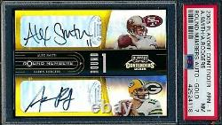 Aaron Rodgers 2005 Playoff Contenders Round Number Gold Auto #/5 Rookie Card Psa