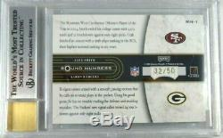 Aaron Rodgers Alex Smith Rc 2005 Playoff Signed Autograph Rookie Bgs 9 Auto #/50
