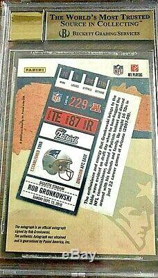 BGS 10 2010 Playoff Contenders Rookie Ticket Rob Gronkowski RC AUTO Blue Jersey