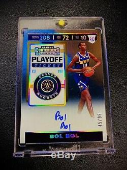 BOL BOL 2019-20 Panini Contenders Playoff Ticket Rookie RC Auto Autograph #45/99